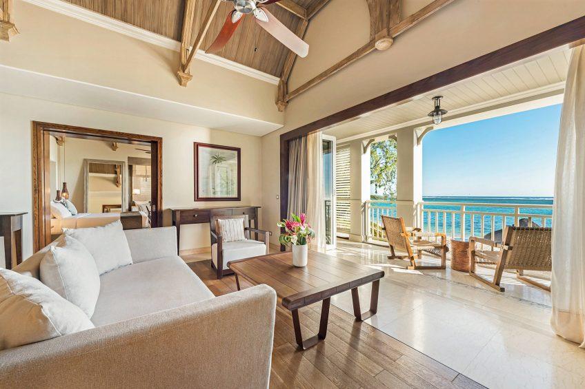 The St. Regis Mauritius Luxury Resort - Mauritius - Beachfront Balcony St. Regis Suite Living Room