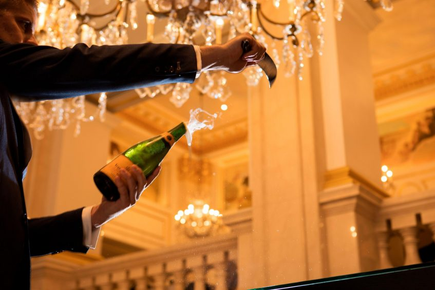 The St. Regis New York Luxury Hotel - New York, NY, USA - Champagne Sabering Ritual