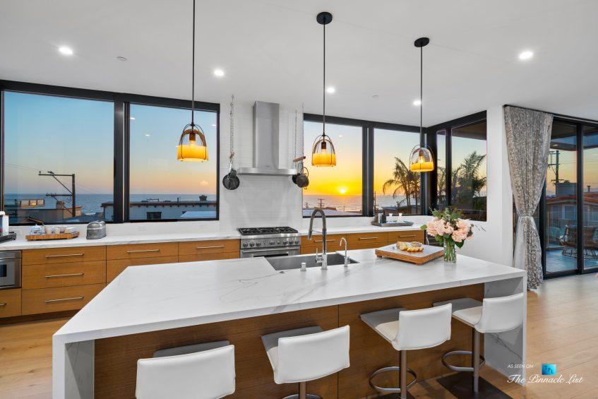 246 30th Street, Hermosa Beach, CA, USA - Kitchen Ocean View Sunset