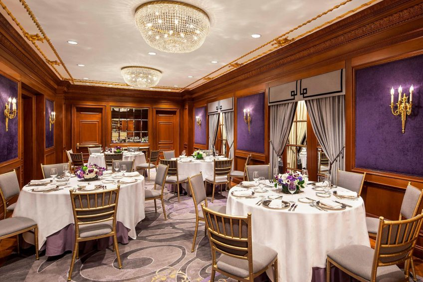 The St. Regis New York Luxury Hotel - New York, NY, USA - La Maisonnette Banquet Setup