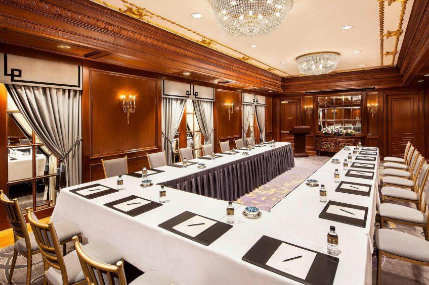 The St. Regis New York Luxury Hotel - New York, NY, USA - Iridium Room - U-Shape Setup