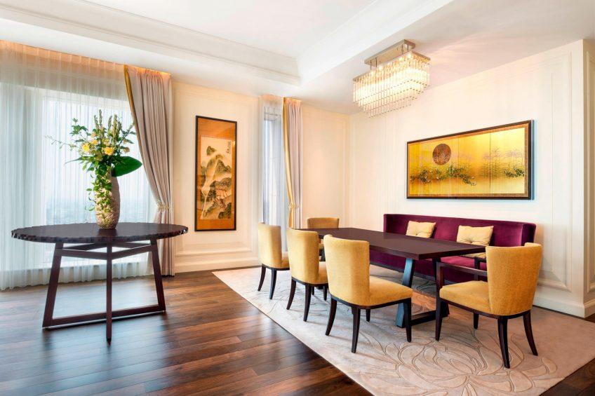 The St. Regis Osaka Luxury Hotel - Osaka, Japan - Royal Suite Dining Area