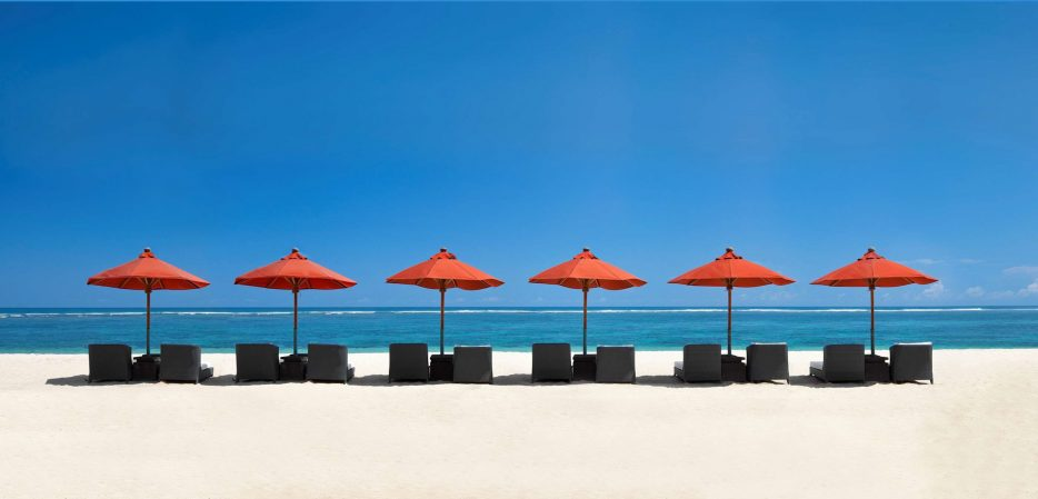 The St. Regis Bali Luxury Resort - Bali, Indonesia - Private White Sand Beach Chairs