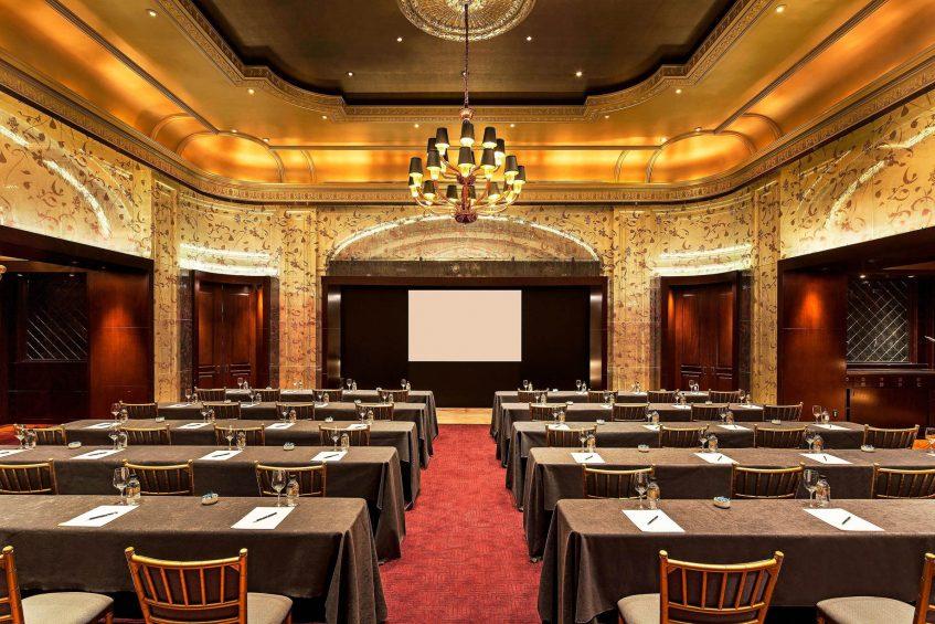 The St. Regis New York Luxury Hotel - New York, NY, USA - The Vault Classroom Setup
