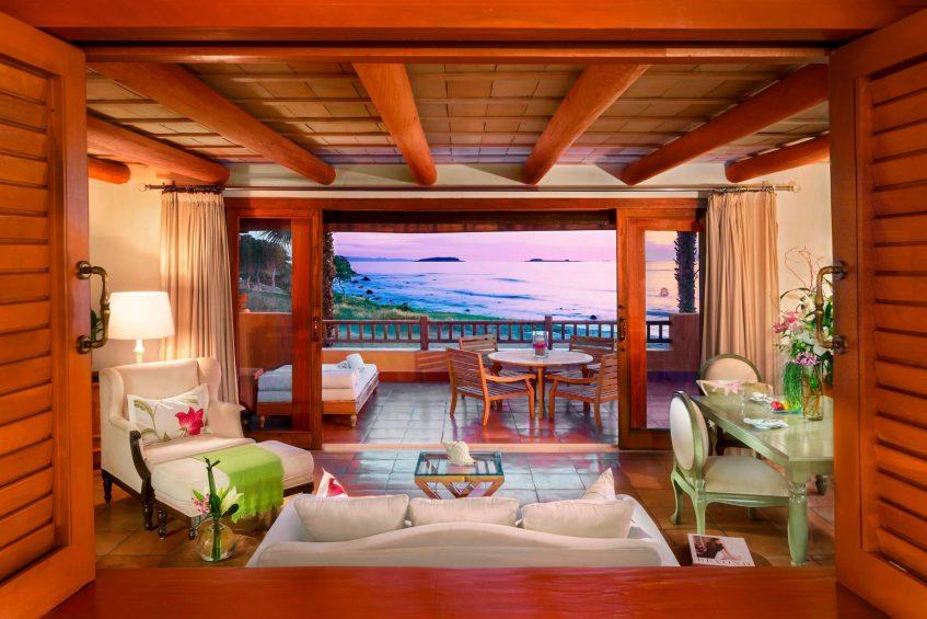 The St. Regis Punta Mita Luxury Resort - Nayarit, Mexico - Deluxe Suite Ocean View Living Room Sunset