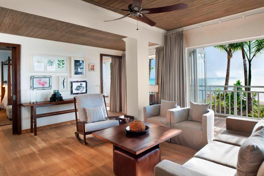 The St. Regis Mauritius Luxury Resort - Mauritius - Beachfront Access St. Regis Suite Living Room