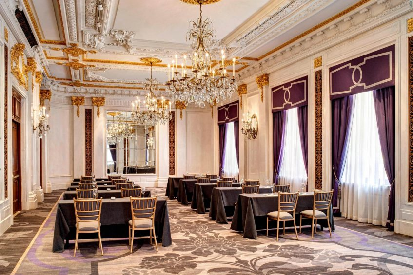 The St. Regis New York Luxury Hotel - New York, NY, USA - The Versailles Room Classroom Setup