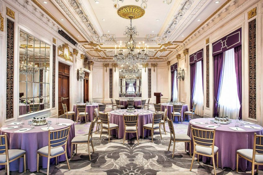 The St. Regis New York Luxury Hotel - New York, NY, USA - The Versailles Room Banquet Setup