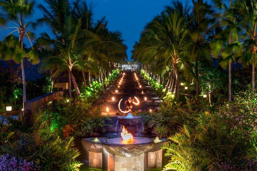The St. Regis Bali Luxury Resort - Bali, Indonesia - Fire Dancer at Black Sand Pond