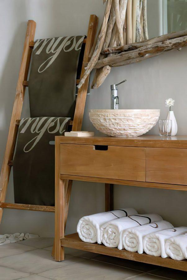 Mystique Luxury Hotel Santorini – Oia, Santorini Island, Greece - Bathroom Sink Decor