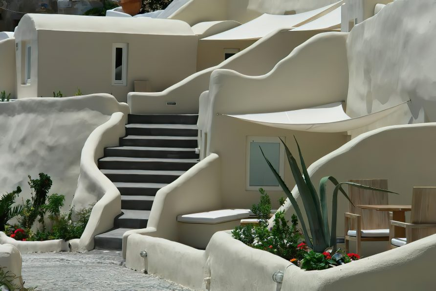 Mystique Luxury Hotel Santorini – Oia, Santorini Island, Greece - Exterior Stairs