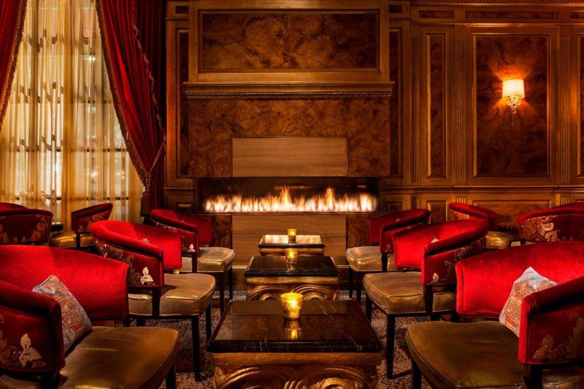 The St. Regis Washington D.C. Luxury Hotel - Washington, DC, USA - St. Regis Bar Fireplace