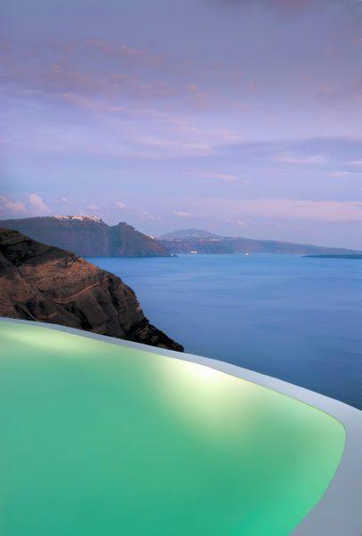 Mystique Luxury Hotel Santorini – Oia, Santorini Island, Greece - Ocean View Infinity Pool Sunset