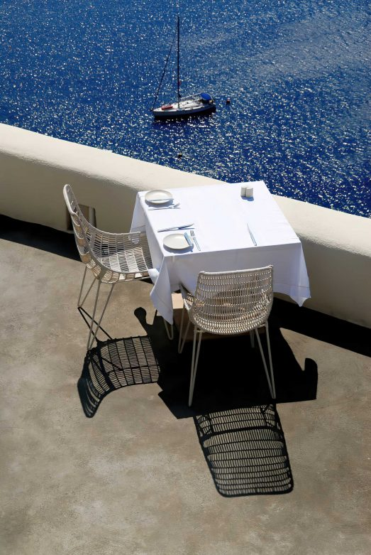 Mystique Luxury Hotel Santorini – Oia, Santorini Island, Greece - Ocean View Patio Dining