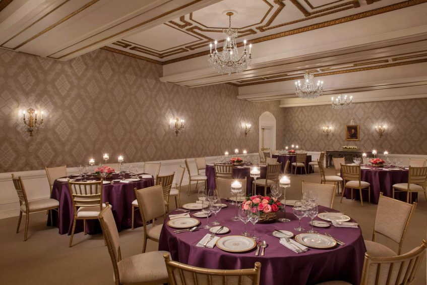 The St. Regis Washington D.C. Luxury Hotel - Washington, DC, USA - James Monroe Room Banquet Setup