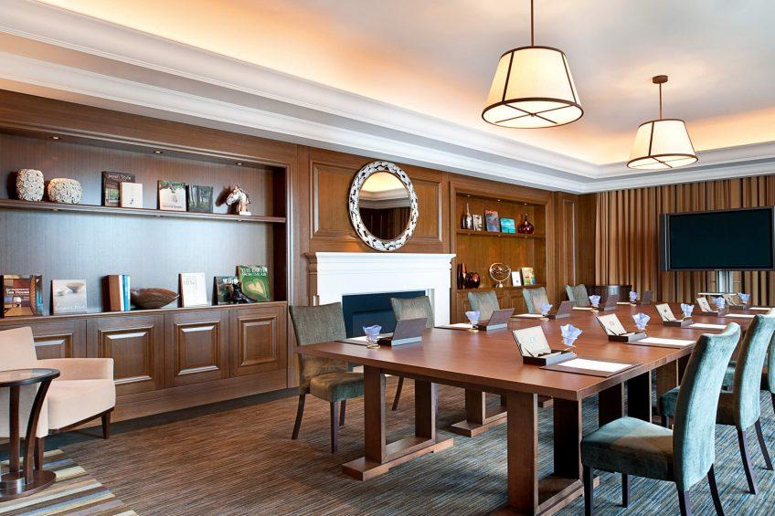 The St. Regis Osaka Luxury Hotel - Osaka, Japan - Library Suite Meeting Room Boardroom
