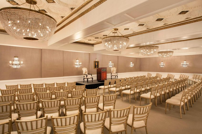 The St. Regis Washington D.C. Luxury Hotel - Washington, DC, USA - Andrew Jackson Theater Setup