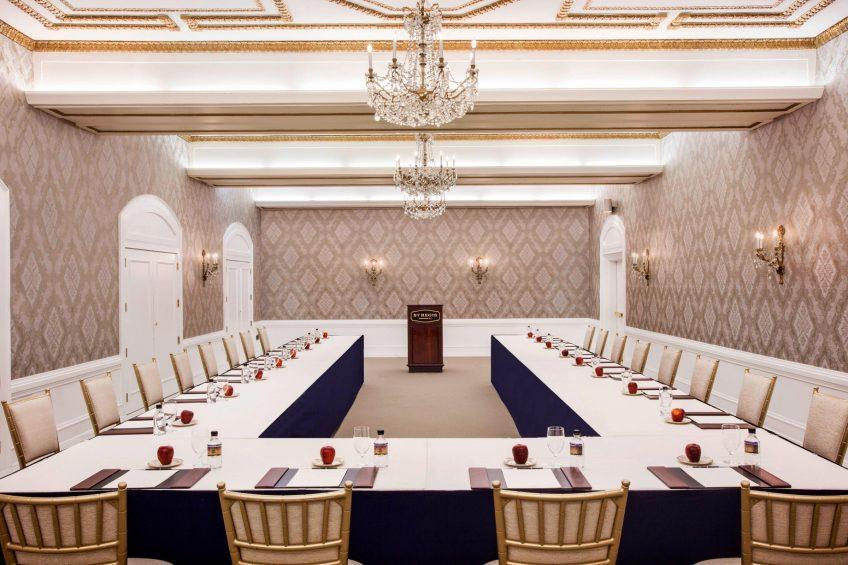 The St. Regis Washington D.C. Luxury Hotel - Washington, DC, USA - James Monroe Room U-Shape Setup