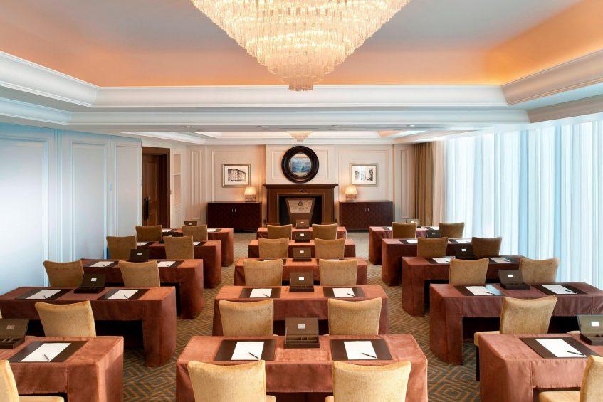 The St. Regis Osaka Luxury Hotel - Osaka, Japan - Founder Suite Classroom Setup