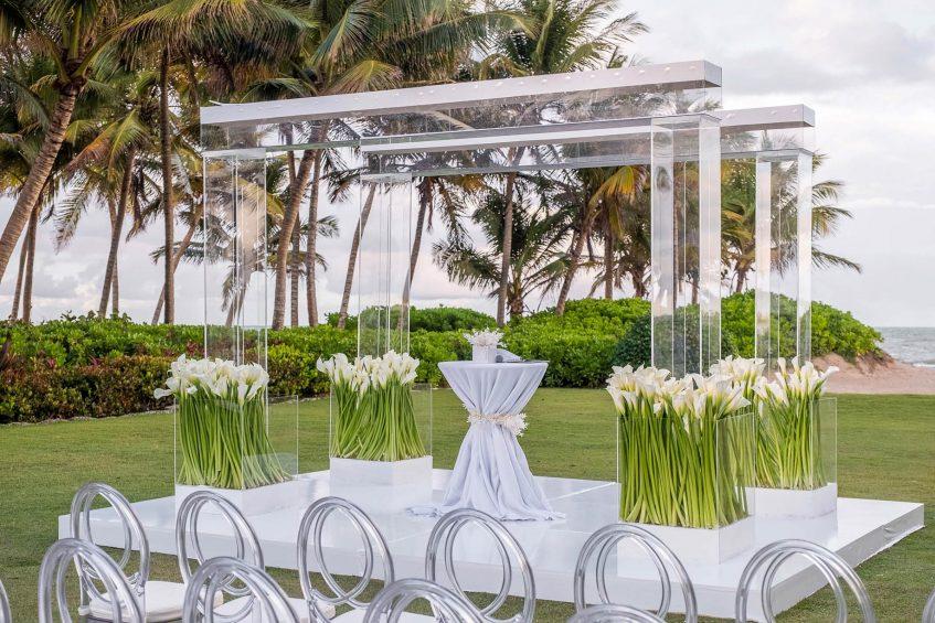 The St. Regis Bahia Beach Luxury Resort - Rio Grande, Puerto Rico - Exterior Wedding Bespoken Setup