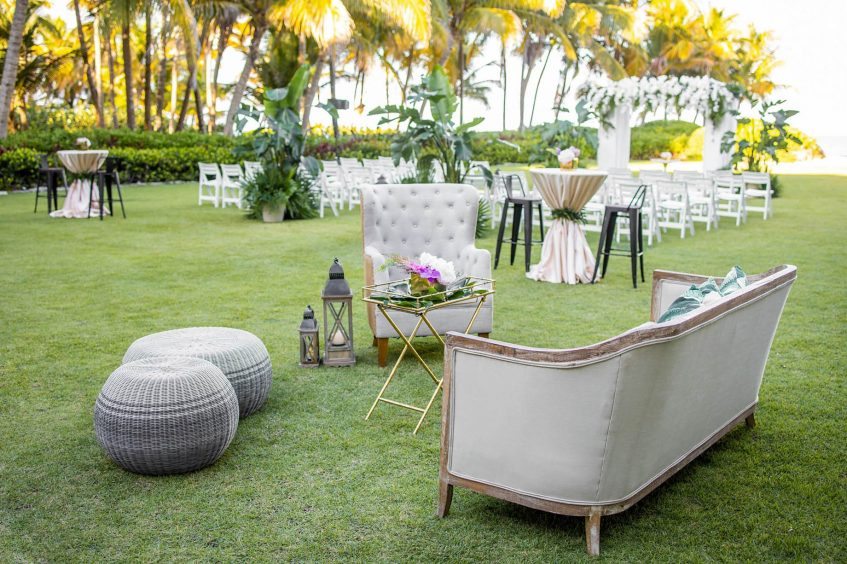 The St. Regis Bahia Beach Luxury Resort - Rio Grande, Puerto Rico - Exterior Lawn Wedding Bespoken Setup