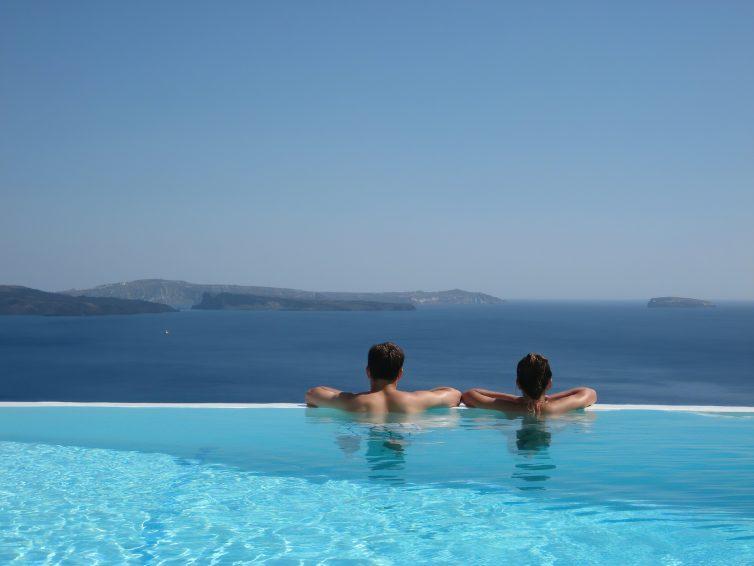 Mystique Luxury Hotel Santorini – Oia, Santorini Island, Greece - Clifftop Ocean View Infinity Pool