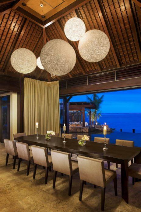 The St. Regis Mauritius Luxury Resort - Mauritius - The St. Regis Villa Dining Room at Night