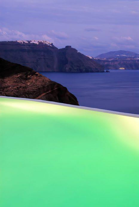 Mystique Luxury Hotel Santorini – Oia, Santorini Island, Greece - Clifftop Ocean View Infinity Pool Sunset