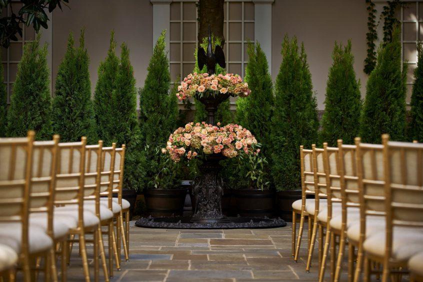 The St. Regis Washington D.C. Luxury Hotel - Washington, DC, USA - Astor Terrace Wedding Ceremony