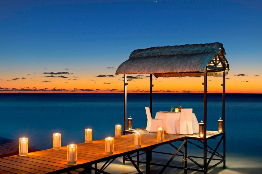The St. Regis Mauritius Luxury Resort - Mauritius - Private Dining on the Jetty at Night