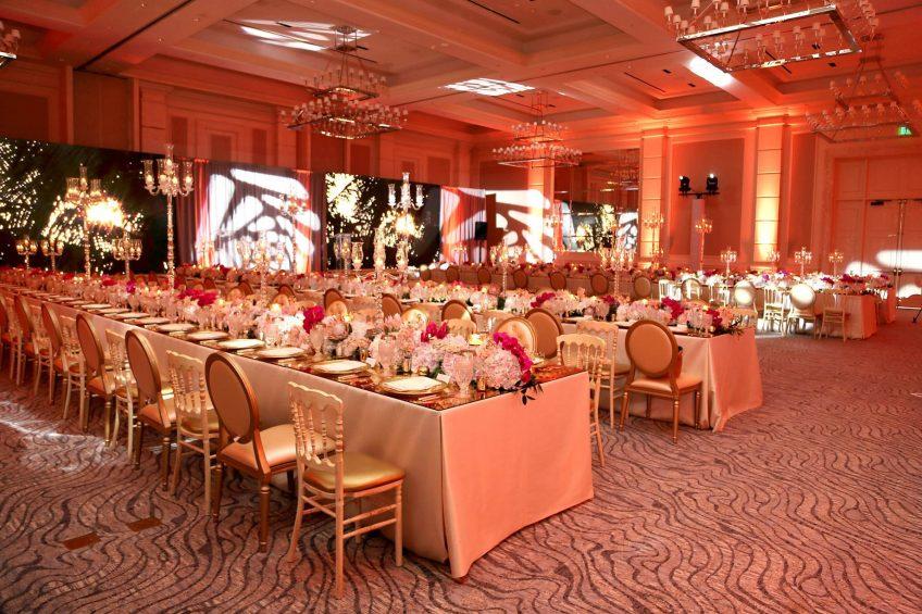 The St. Regis Bahia Beach Luxury Resort - Rio Grande, Puerto Rico - Ballroom Gala Dinner Setup
