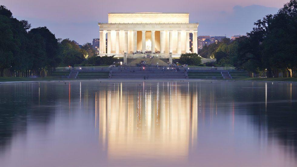 The St. Regis Washington D.C. Luxury Hotel - Washington, DC, USA - Lincoln Memorial Twilight