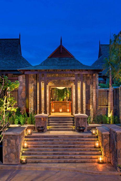 The St. Regis Mauritius Luxury Resort - Mauritius - The St. Regis Villa Entrance at Night