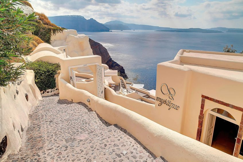 Mystique Luxury Hotel Santorini – Oia, Santorini Island, Greece - Lobby Entrance