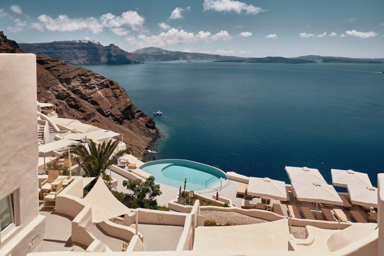 Mystique Luxury Hotel Santorini – Oia, Santorini Island, Greece - Hotel Clifftop Main Infinity Pool