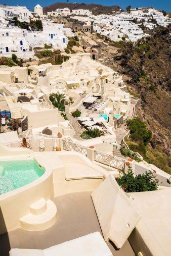 Mystique Luxury Hotel Santorini – Oia, Santorini Island, Greece - Clifftop Hotel Setting