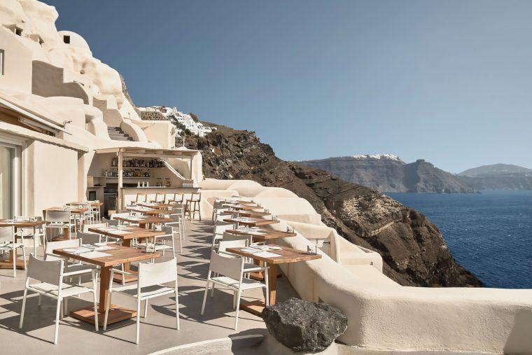 Mystique Luxury Hotel Santorini – Oia, Santorini Island, Greece - Clifftop Hotel Charisma Restaurant