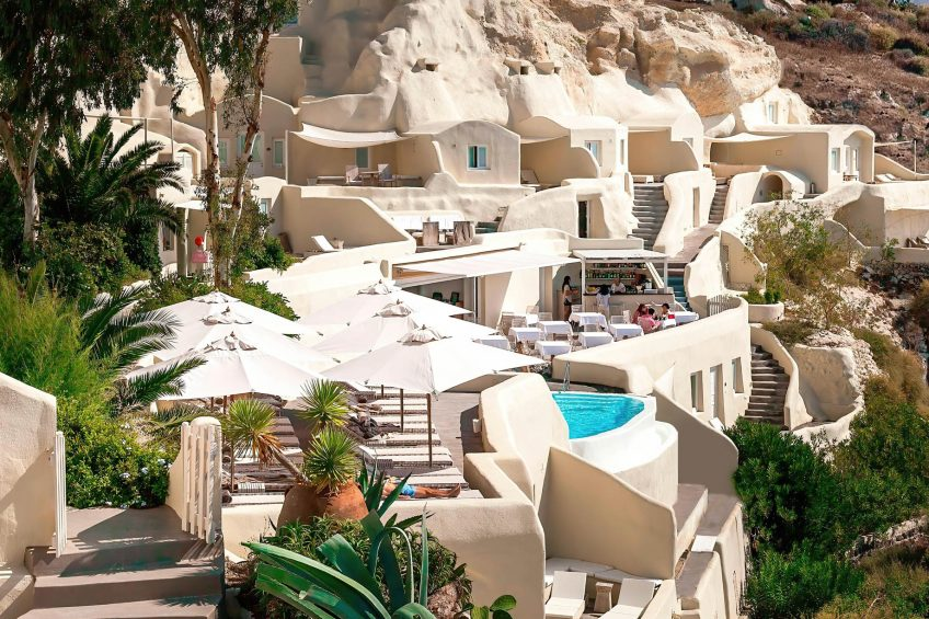 Mystique Luxury Hotel Santorini – Oia, Santorini Island, Greece - Clifftop Hotel Exterior