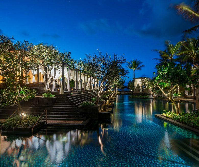 The St. Regis Bali Luxury Resort - Bali, Indonesia - Resort Night Pool View