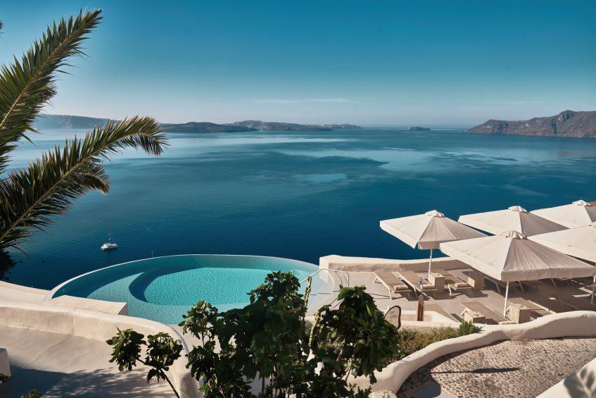 Mystique Luxury Hotel Santorini – Oia, Santorini Island, Greece - Clifftop Main Infinity Pool