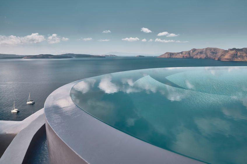 Mystique Luxury Hotel Santorini – Oia, Santorini Island, Greece - Clifftop Infinity Pool Ocean View