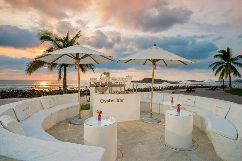 The St. Regis Punta Mita Luxury Resort - Nayarit, Mexico - Beachfront Oyster Bar