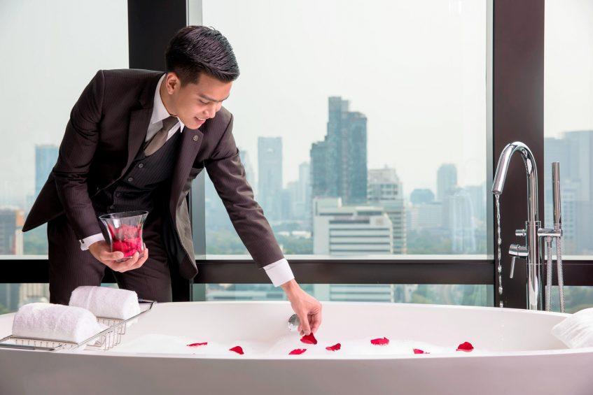 The St. Regis Bangkok Luxury Hotel - Bangkok, Thailand - Butler Service Bubble Bath