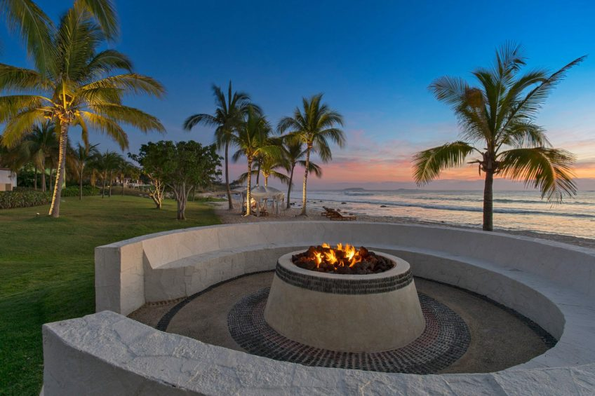 The St. Regis Punta Mita Luxury Resort - Nayarit, Mexico - Beach Firepit Sunset