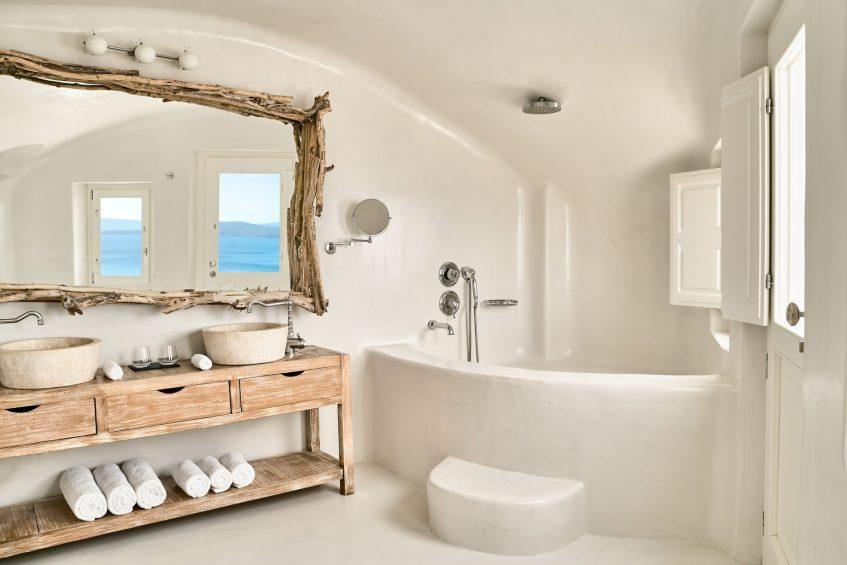 Mystique Luxury Hotel Santorini – Oia, Santorini Island, Greece - All2Senses Suite Bathroom