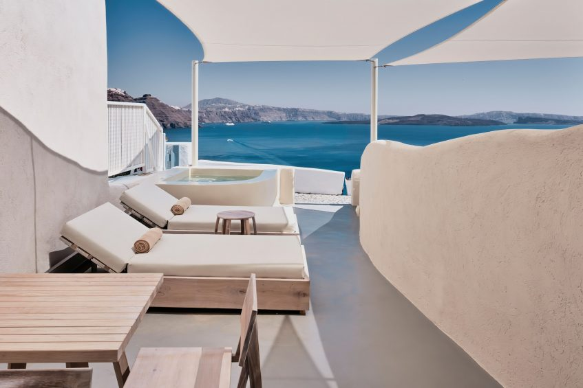 Mystique Luxury Hotel Santorini – Oia, Santorini Island, Greece - Wet Allure Suite Private Ocean View Deck