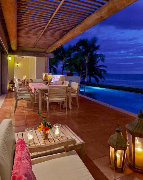 The St. Regis Punta Mita Luxury Resort - Nayarit, Mexico - Villa Infinity Pool Deck Sunset