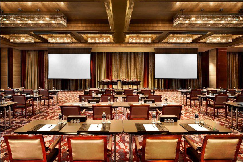 The St. Regis Bangkok Luxury Hotel - Bangkok, Thailand - Astor Ballroom Classroom Setup