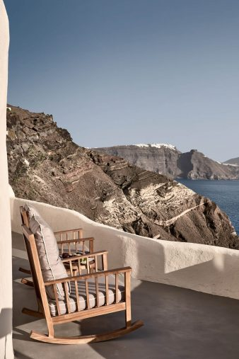 Mystique Luxury Hotel Santorini – Oia, Santorini Island, Greece - Elios Spa Ocean View Deck