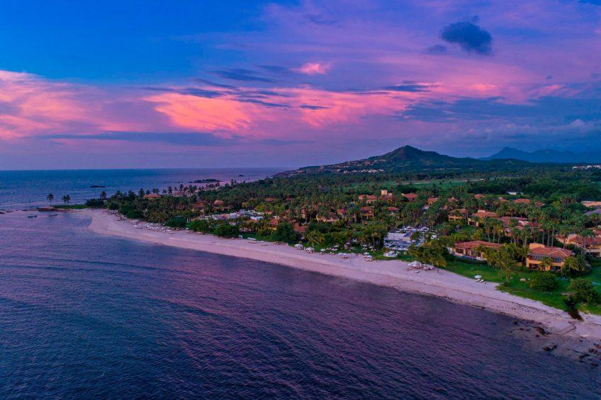The St. Regis Punta Mita Luxury Resort - Nayarit, Mexico - Resort Aerial View Sunset